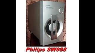 Philips SW988 Bass test (dissasembled)