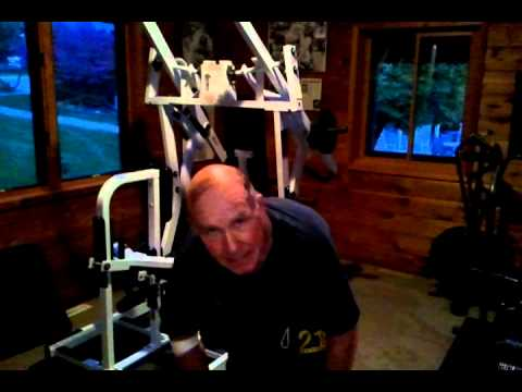 Dan Gable trains with throwing bags -- Part 2