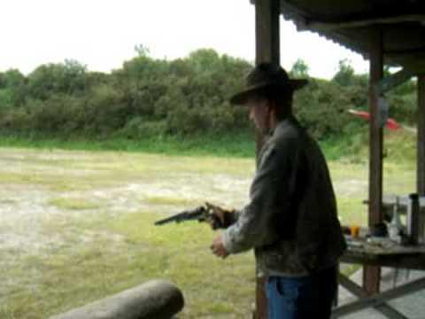 Firing a Colt Walker black powder revolver - 4