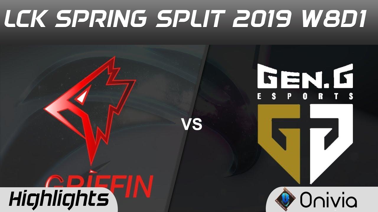 GRF vs GEN Highlights Game 1 LCK Spring 2019 W8D1 Griffin vs Gen G Esports by Onivia