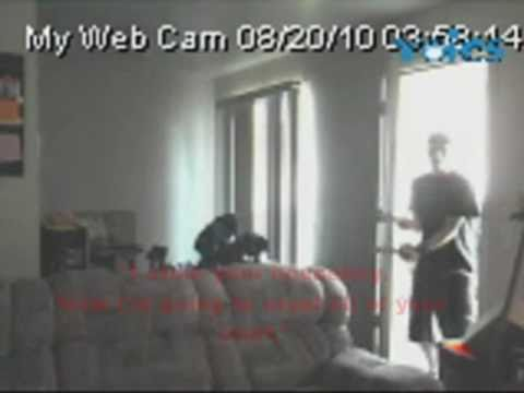 0 My Home Security Camera Busting an Idiot