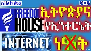 ኢትዮጵያ የኢንተርኔት ነፃነት የሌለባት ሀገር ተብላለች Freedom House - VOA Amharic (November 16, 2016)