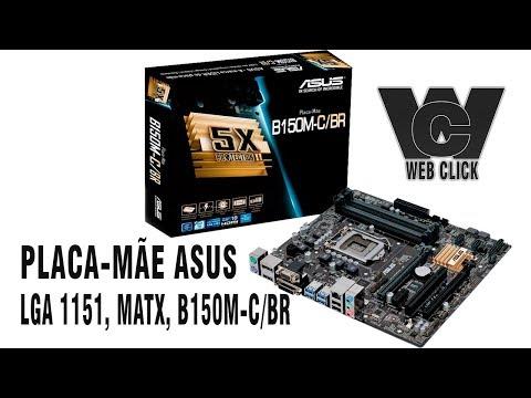 Placa-Mãe ASUS p/ Intel 6/7a Geração, LGA 1151, mATX, B150M-C/BR, 4x DDR4,