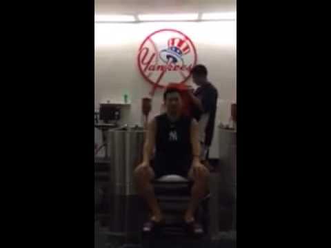 New York Yankees' Masahiro Tanaka Completes ALS Ice Bucket Challenge