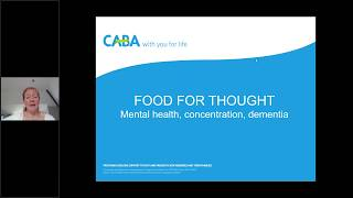 Food for thought webinar