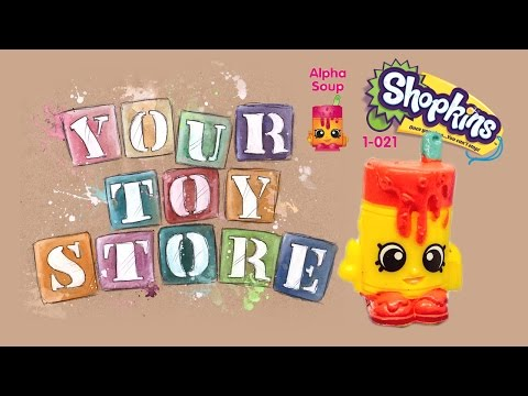 Unboxing Blind Bag Shopkins Season 1 Five Pack Alpha Soup Surprise