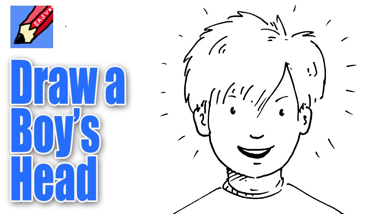 Line Drawing Boy Face : How to draw a boy s face from the front real easy youtube