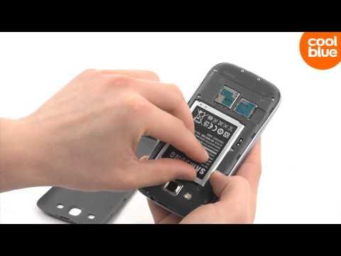 Hoe plaats ik mijn SIM kaart in de Samsung Galaxy S3?