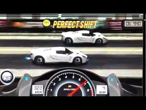 Drag Racing NEW ( v1.5 ) android app level 10 Henessey Venom GT - setup and upgrade
