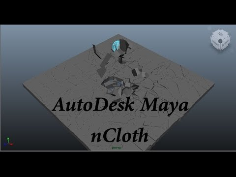 Autodesk Maya nCloth Destruction tutorial