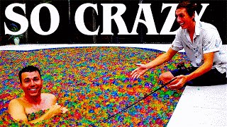 Pool full of Orbeez Experiments!