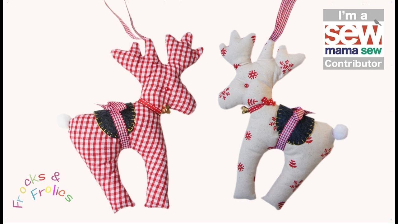 Free Christmas Tree Decoration Sewing Patterns : How to sew a reindeer christmas craft free patterns