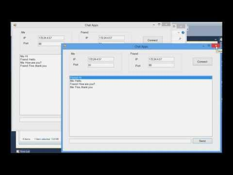 windows chat application using microsoft visual C#
