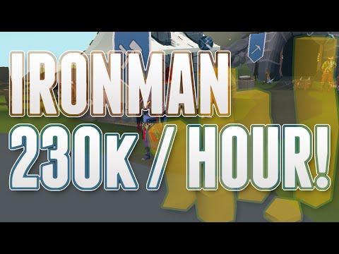 Runescape 3 – Ironman Money Making Guide 230k an Hour!
