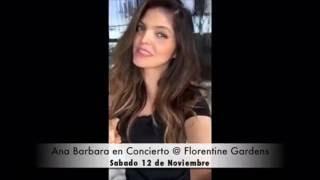 Ana Barabra @Florentine Garden's  Noviembre 2106 (Los Angeles California)