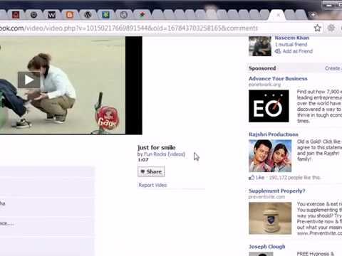 Download Facebook Video med google Chrome