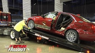 J&J Security's destroyed Cadillac is towed out of the arena: Raw Fallout, July 7, 2015