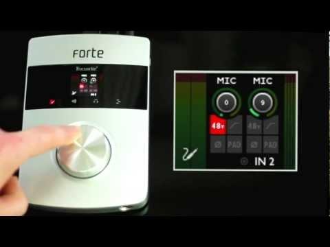 Focusrite // Forte audio interface overview