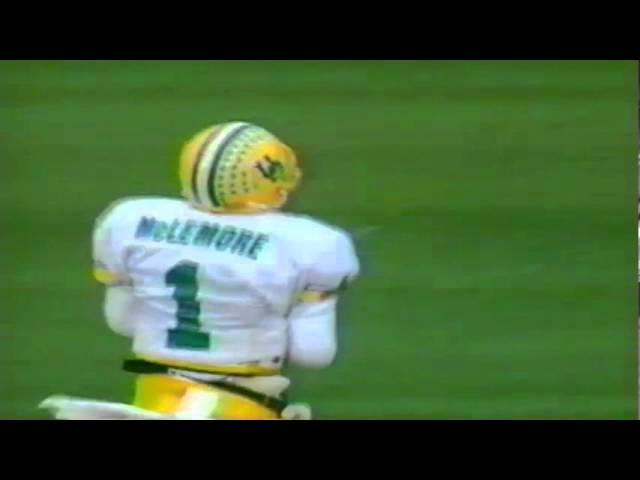 Oregon WR Cristin McLemore 31 yard catch vs. OSU 11-19-1994