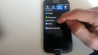 Galaxy S4: How to Delete & Add Gmail Account (Google Account)