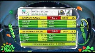 ►Karachi Kings v Peshawar Zalmi | Pakistan Super League