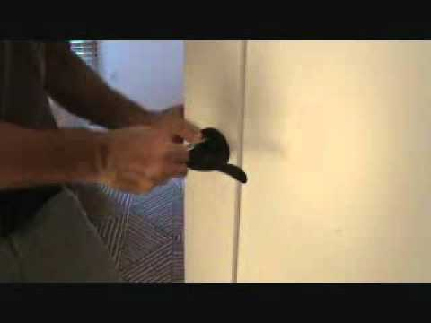 How to remove an entry style door lock
