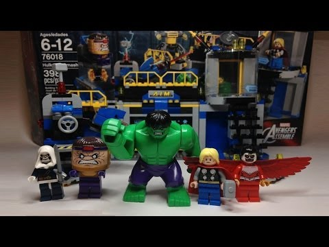 LEGO Marvel Super Heroes Avengers Hulk Lab Smash Review 76018