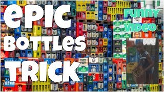 Epic bottles trick 🔸 7 second of happiness FUNNY Video 😂 #393