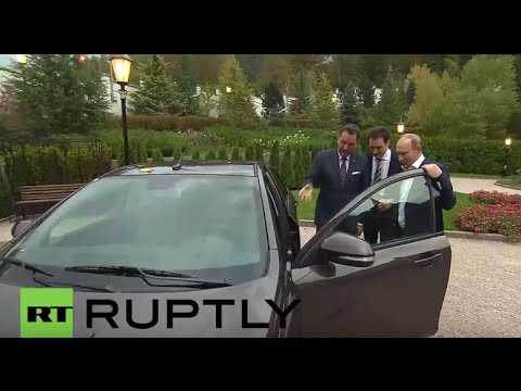Russia: Putin test-drives the new Lada Vesta in Sochi