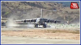 IAF's Mighty C-17 Globemaster Makes Landing 30 KM From China border