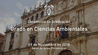 Graduación del Grado en Ciencias Ambientales · 09/11/2018