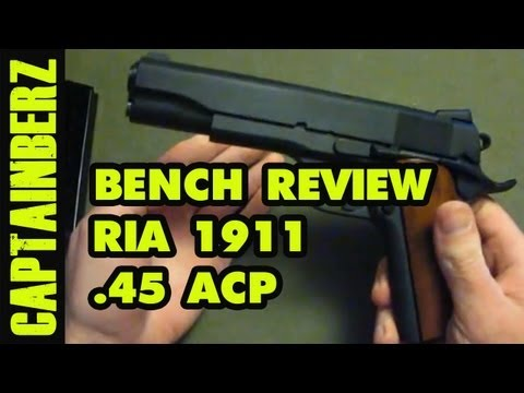 RIA 1911 .45 ACP Tactical Bench Review