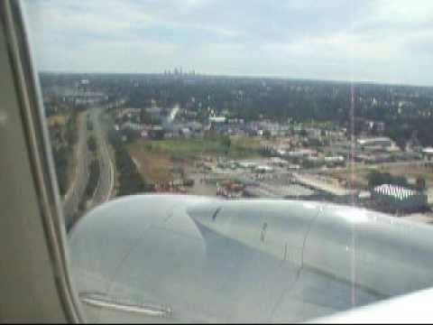 Landing at perth airport