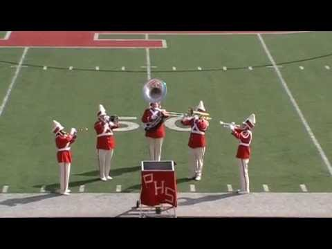 Opening ceremonies at Cavalcade of Bands at Parkersburg High School October 11, 2014