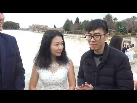 Pamukkale Çinli Gelinlerle Dünyaya Tanıtılacak