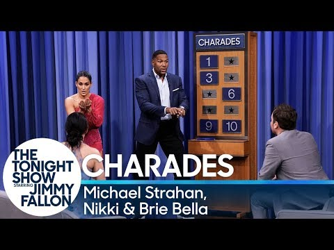 Charades with Michael Strahan, Nikki and Brie Bella