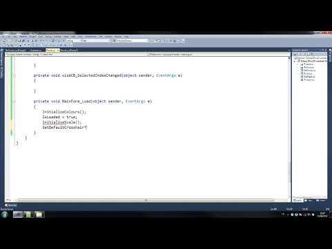 C# Direct-x Custom crosshair Tutorial 3/7