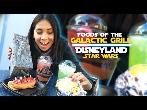 Foods of the Galactic Grill at Disneyland