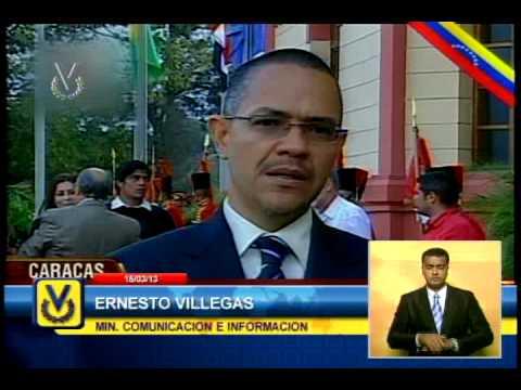 Ministro Villegas descarta idea de embalsamar los restos mortales del presidente Chávez