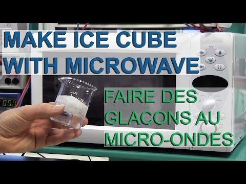 Faire des glaçons au micro-ondes - Make ice cube with a microwave - Electricité gratuite