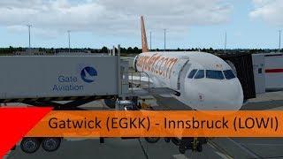 P3D V4.3 VATSIM - EasyJet A319 Shared Cockpit - Gatwick to Innsbruck (EGKK-LOWI)
