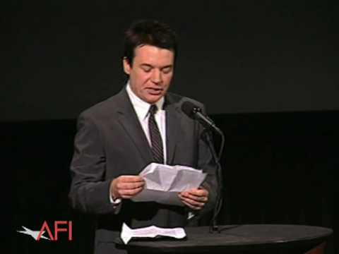 Jay Roach introduces Mike Myers at the 2008 AFI Night At The Movies. Mike, introducing a screening of Austin Powers, talks about his admiration for Robert Wa...