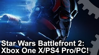 [4K] Star Wars Battlefront 2: Xbox One X vs PS4 Pro vs PC Graphics Comparison!
