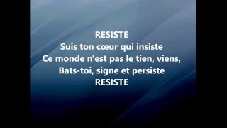 France Gall  RESISTE LyricsParoles
