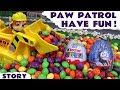 Paw Patrol with Thomas and Friends Toys Surprise Eggs Fun | M...