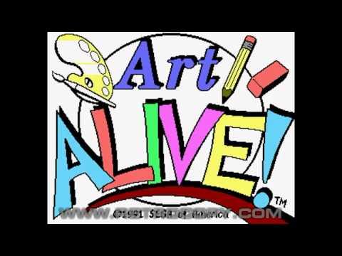 Art Alive (Sega Genesis / Mega Drive) - Intro
