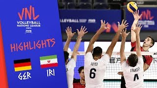 GERMANY vs. IRAN -  Highlights Men | Week 1 | Volleyball Nations League 2019