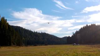 Cessna 185 Takeoff from Magee Airstrip, Idaho