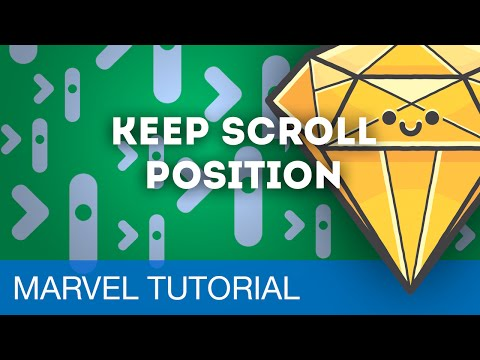 Keep Scroll Position • Prototyping with Marvel (Tutorial)