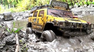 Download RC TRUCK OFF Road 4x4 MUD Terrain - Tamiya Truck 6x6, Hummer, Axial SCX10 Honcho 3Gp Mp4
